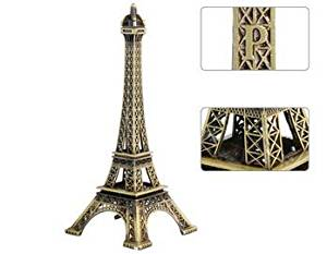 Apexshell (TM) Metal Marvels Eiffel Tower Paris France Figurine Replica Centerpiece Room Table Décor Jewelry Stand Tea Candle Holder (18cm)
