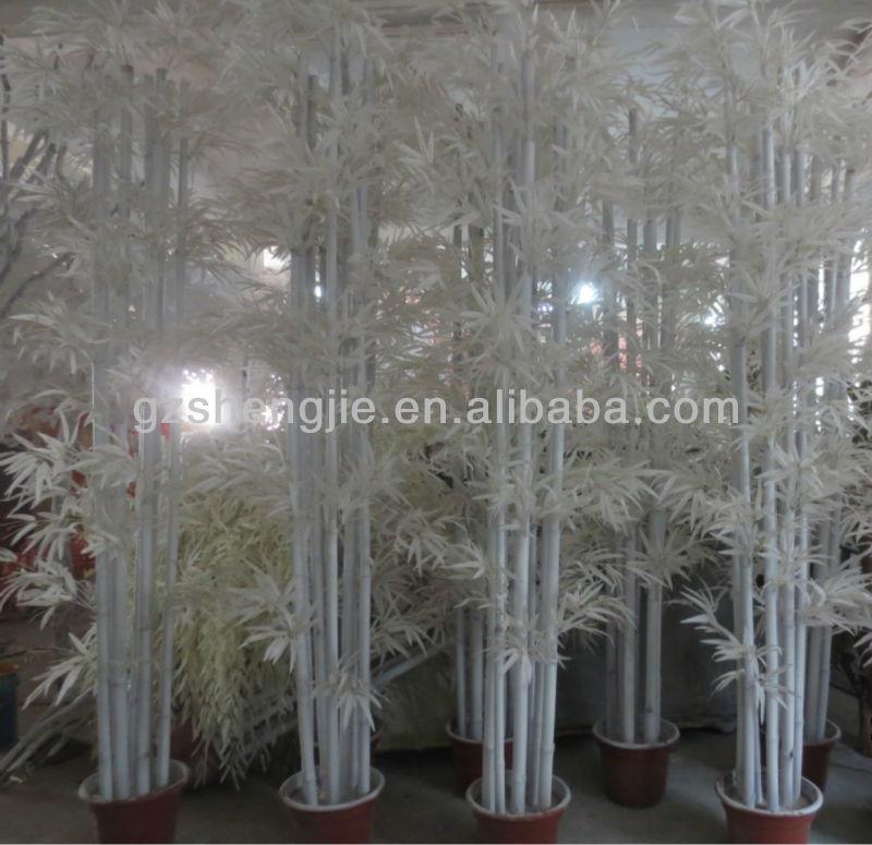 Personalizado blanco bamb artificial plnats para navidad for Bambu seco para decoracion