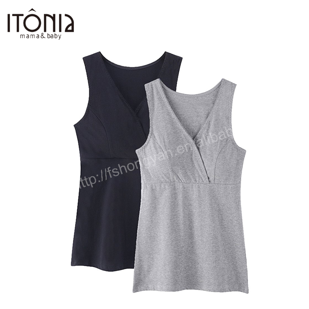 Itonia women nursing tank top camisole sleep bra for maternity breastfeeding