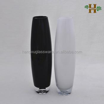blanco y negro altos jarrones de cristal jarrones de cristal