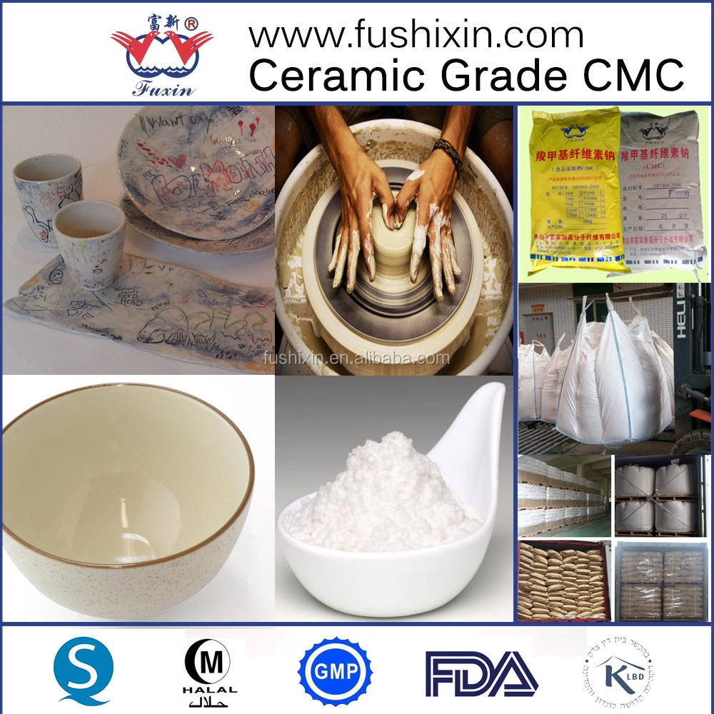 Ceramic binder grade Sodium Carboxymethyl Cellulose CMC powder
