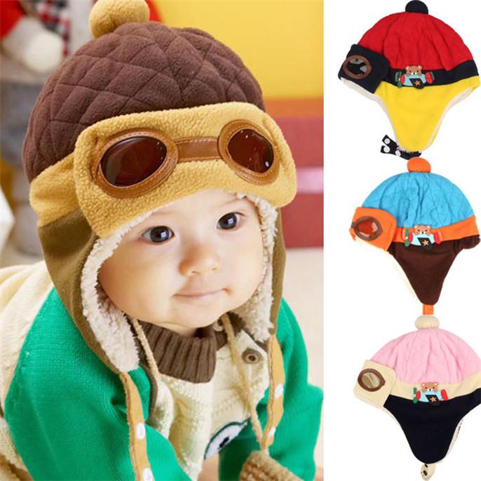 special offer Fashion Boys Winter Warm Cap Hat Beanie Pilot Crochet Earflap Hats CAP