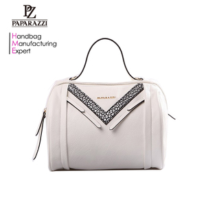 5047 Signature trendy vegan pu leather woman fashion bowling hand bags for girls