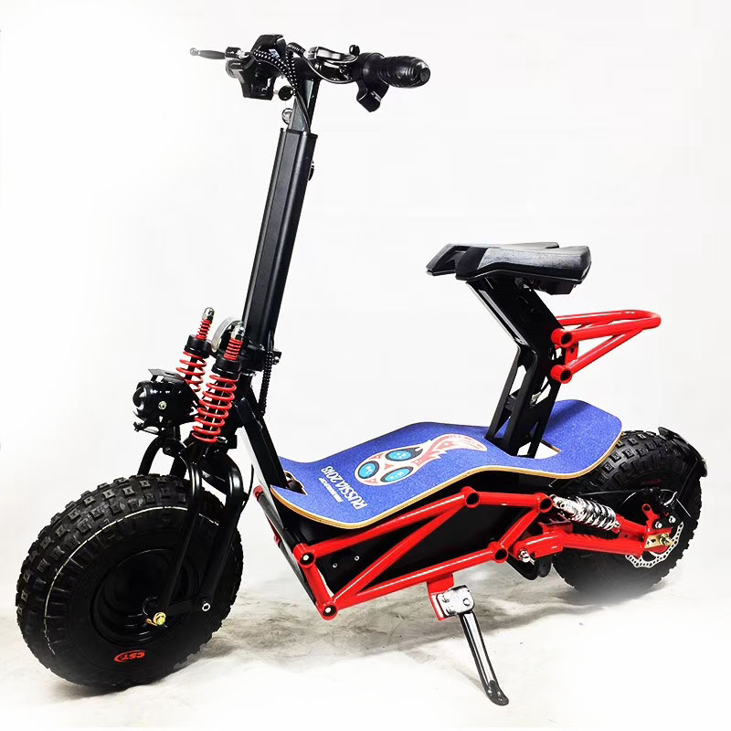 unfolding unfoldable fat tire electric scooter 2000w