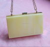 White Acrylic Clutch Bags for Ladies