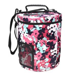 Hot Sale Wholesale Portable Custom Round Canvas Knitting Bag Waterproof Yarn Knitting Storage