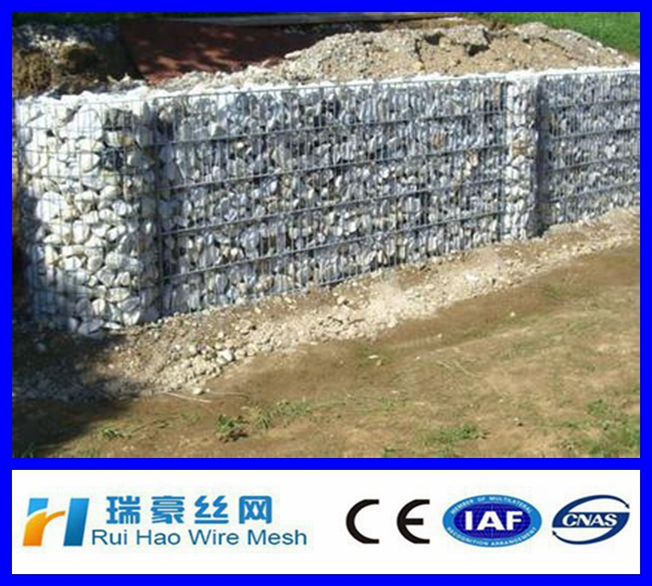 2017 China 6*8 8*10 gabion basket / gabion wire cages rock retaining wall