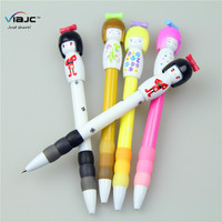 Cartoon ball pen Japanese doll souvenir pen with soft grip for promotional gift