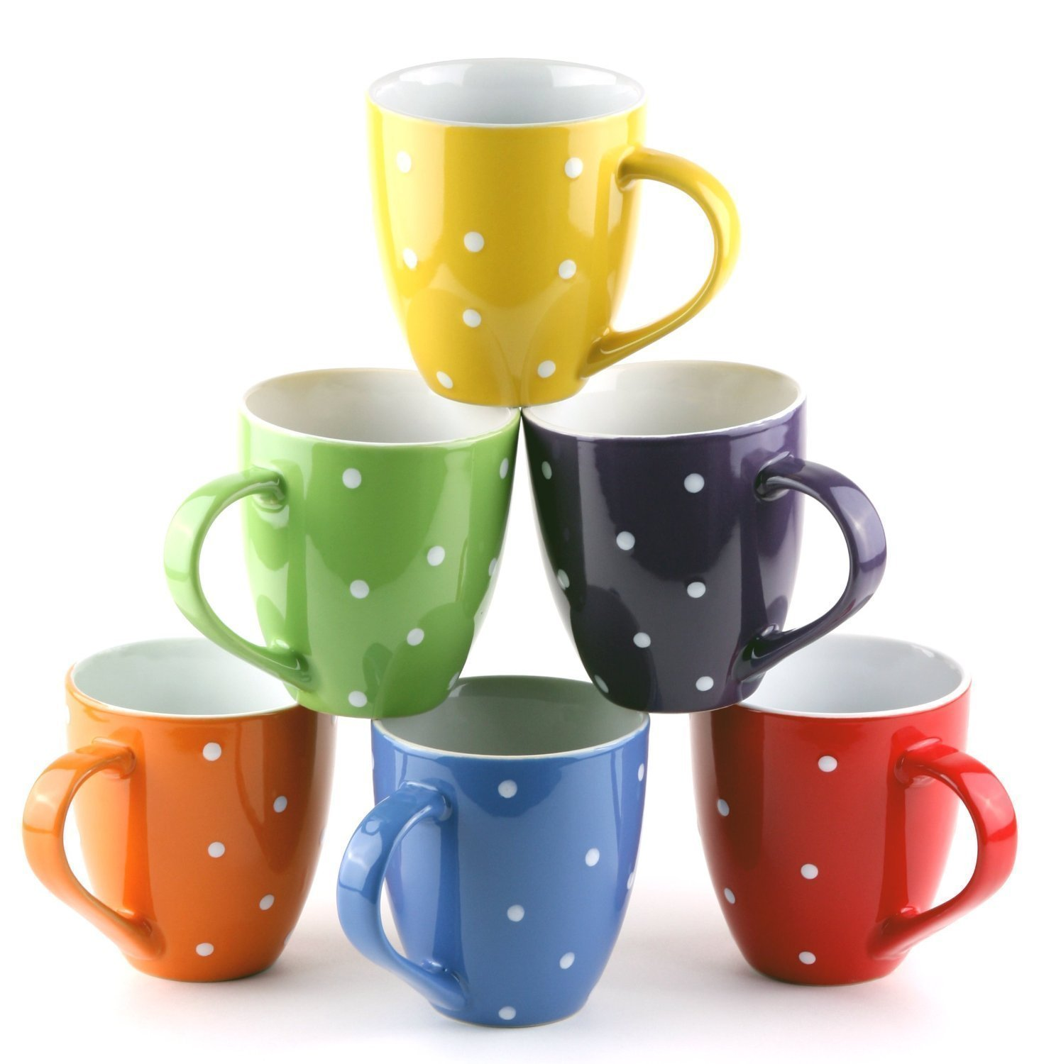 Buy US Shopee LLP 11 Oz Ceramic coffee Mug set of 6,with Stand ...