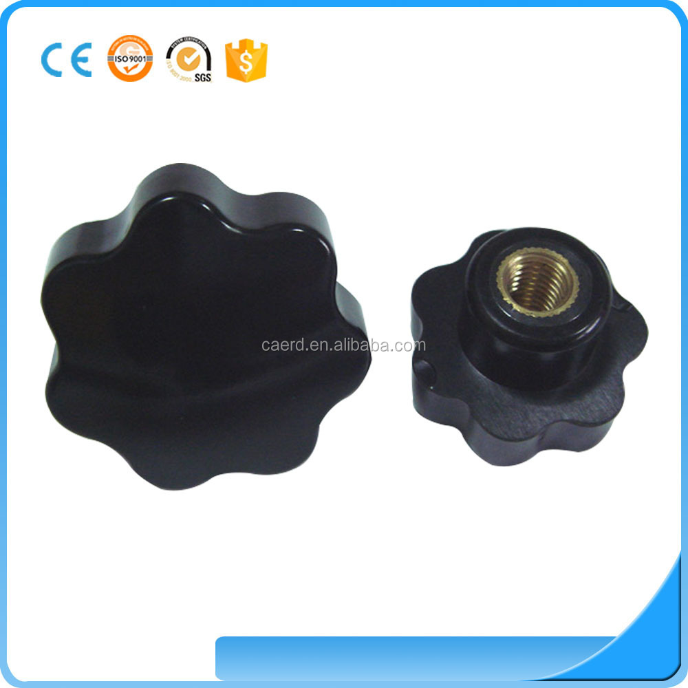 China supplier cheap adjustable black plastic star <strong>handle</strong>