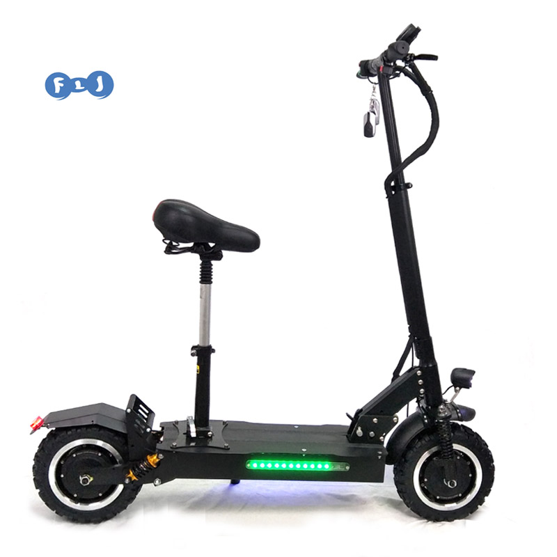 11 Inch fat Tire Size Folding Electric Scooter 60V/3200W and CE Certification 2400w 48v electric folding scooter for adults, Black