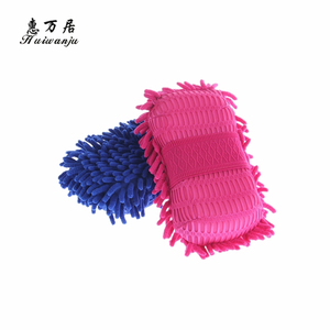 Factory Supply OEM quality chenille sponge with many colors