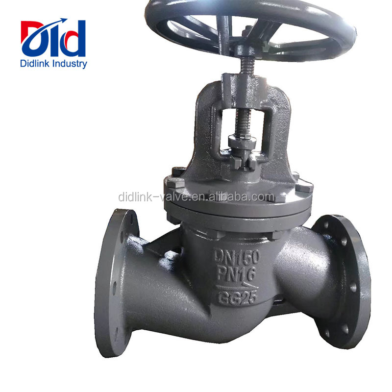 Cheap Price DN150 PN16 GG25 Cast Iron Plug Flange Connect Type Manual Operated Household Globe Valve Supplier