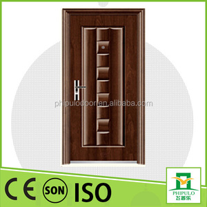 China manufacture modern design paint entrance steel door with security door style