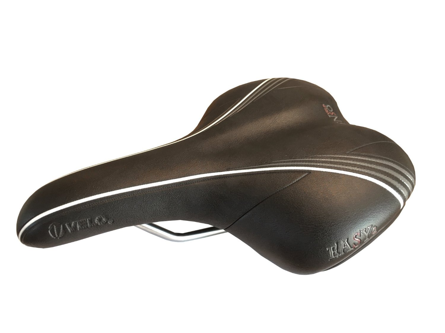 City and Comfort Bikes Hybrid Commuting Urban Black PU Leather and Gel Bike Saddle for Man Women VELO VL-6263 Plush Comfortable Bicycle Seat for Beach Cruiser