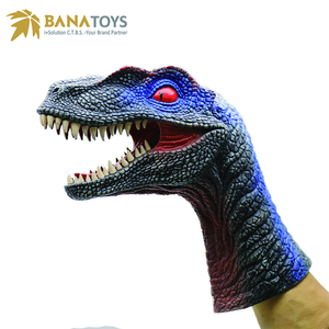 New Products Rubber Velociraptor Dinosaur Hand Finger Puppet