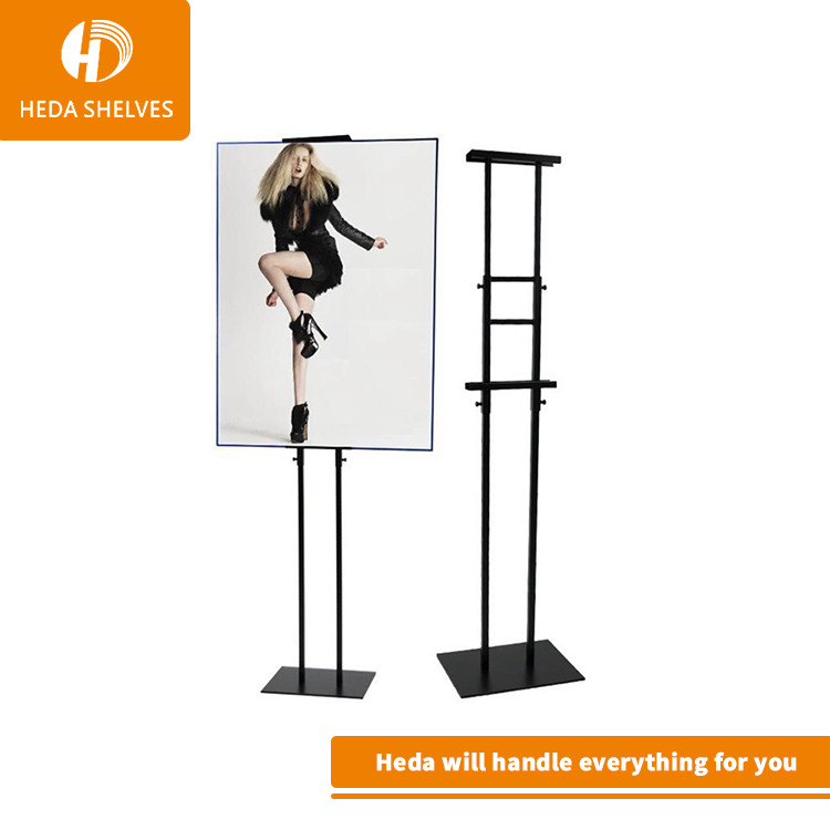Guangzhou factory metal double side photo display stands for ad <strong>show</strong>