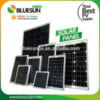 Bluesun mono poly 20w 30w 50w 60w electric solar panel