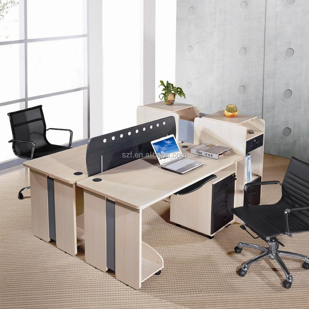Modern open space office furniture 2 seats office for Open space office