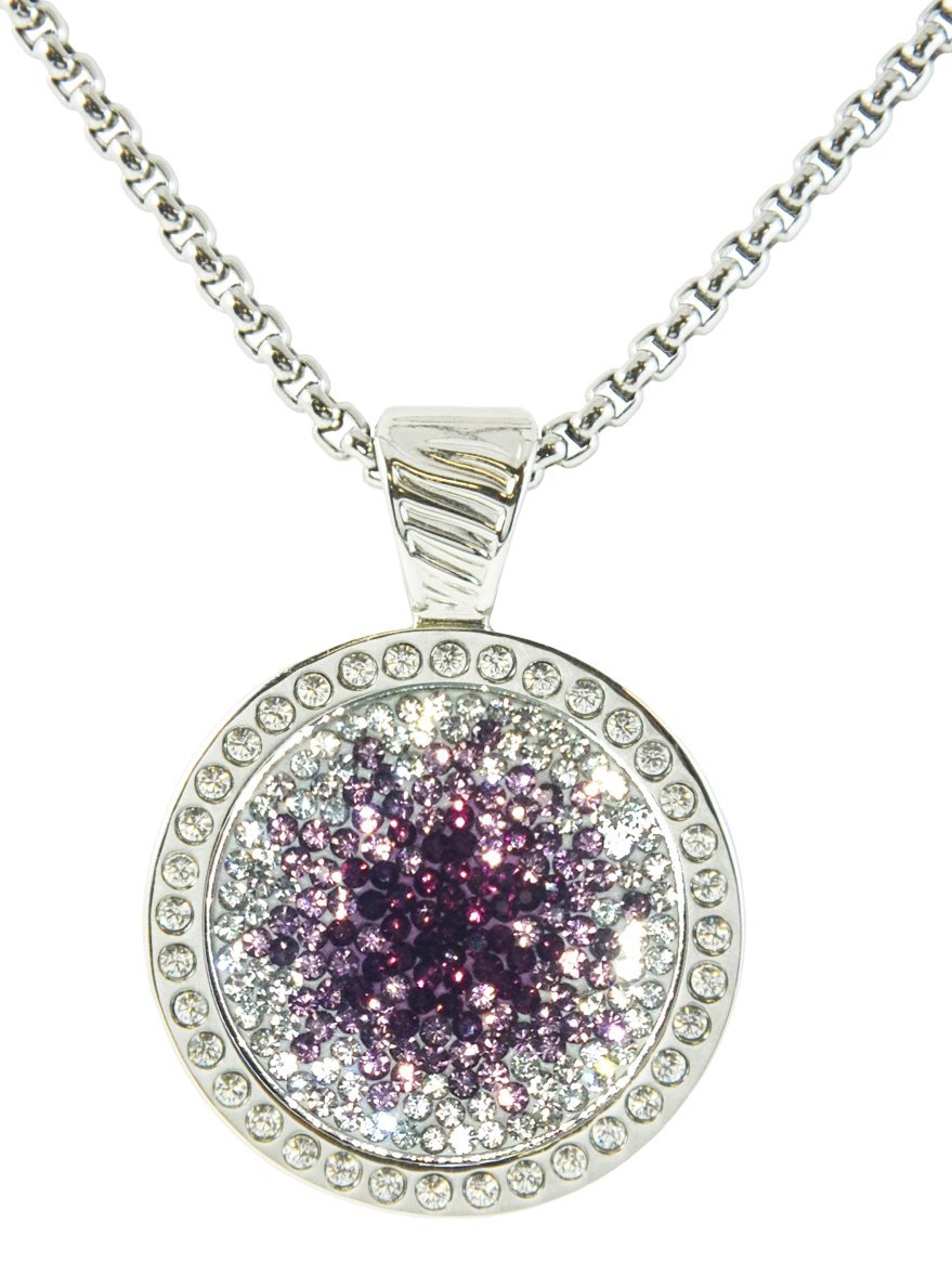 52984db97d56 Get Quotations · Purple Haze Micro Pave Crystal Ball Marker w  Swarovski  Crystal Chameleon Magnetic Necklace