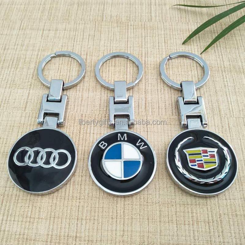 promotional car logo metal keychain