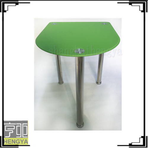 Light green side table with three legs