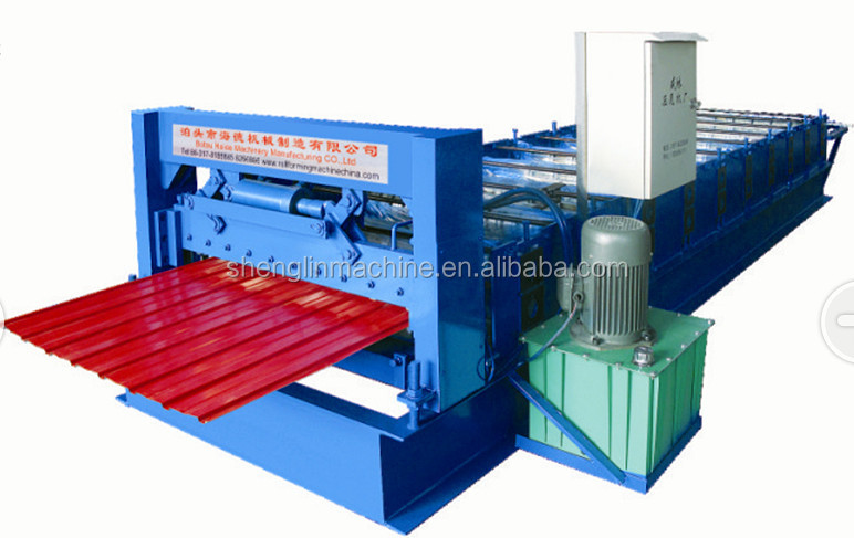 External/ internal walls and roof making machine/ glazed tile roll forming machine
