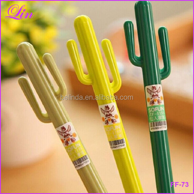 Free Shipping by DHL/FEDEX/SF gel pen plant cactus pens <strong>school</strong> supplies cute stylo