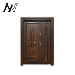 Outside bigger handle design Chinese price security turkish armored door