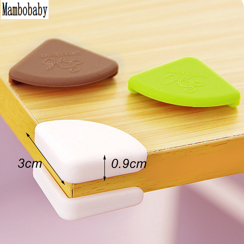 Mambobaby 4pcs Set Children Safety Table Desk Protection Cover Baby Safe Crash Corner Guards Pads New Dhiananda
