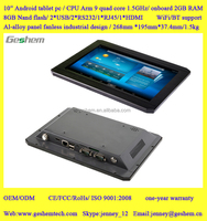 2016 hot wholesale Industrial Android tablet PC with 10 inch touch screen