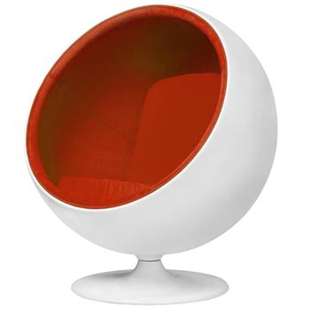 Modern Designer Furniture White Fiberglass Standing Bubble Ball Chair
