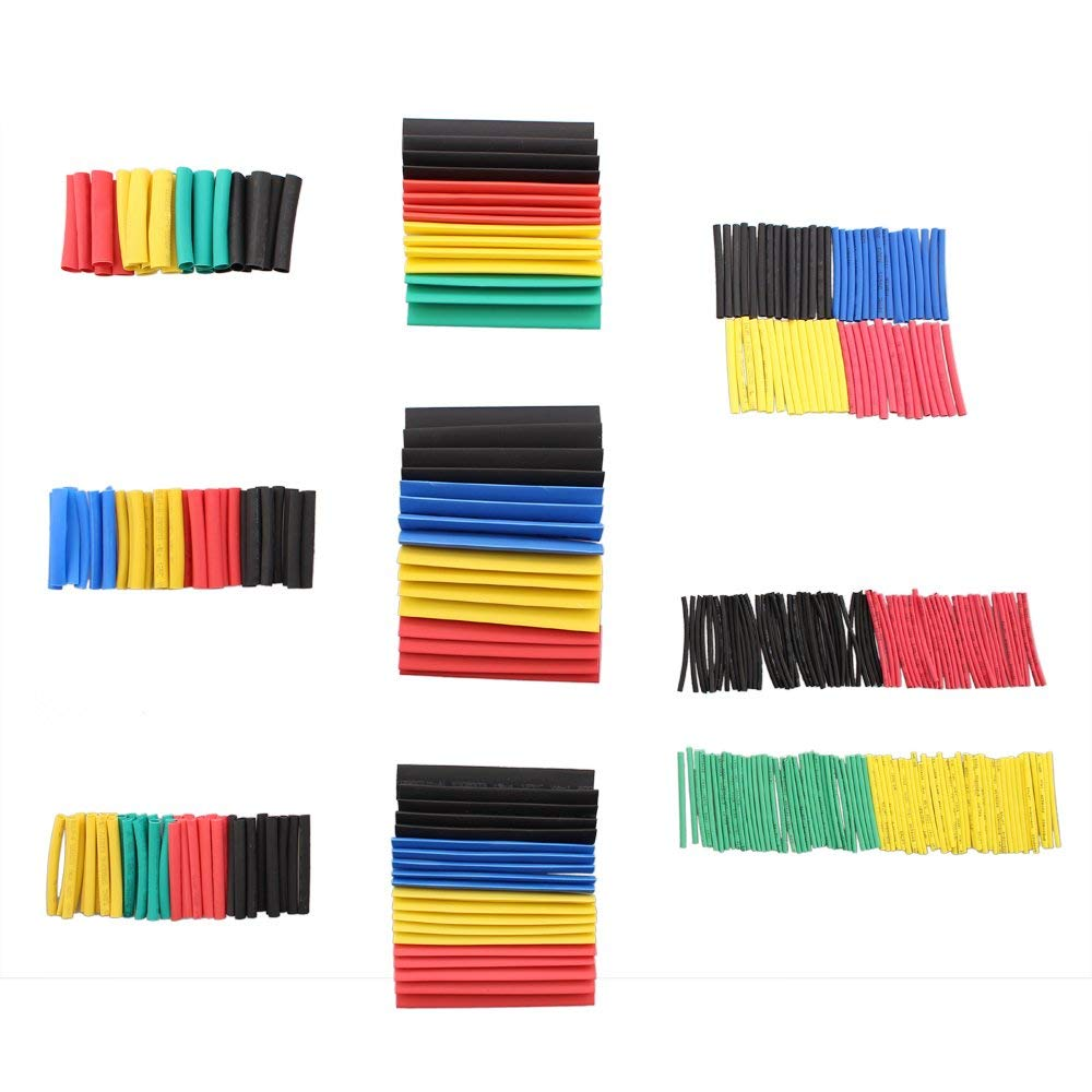 328 PCS Heat Shrink Tubing Set, SIM&NAT Ratio 2:1 Electrical Insulated Sleeving Assorted Heat Shrink Wrap Wire Cable Tubing (8 Sizes/5 Colors)