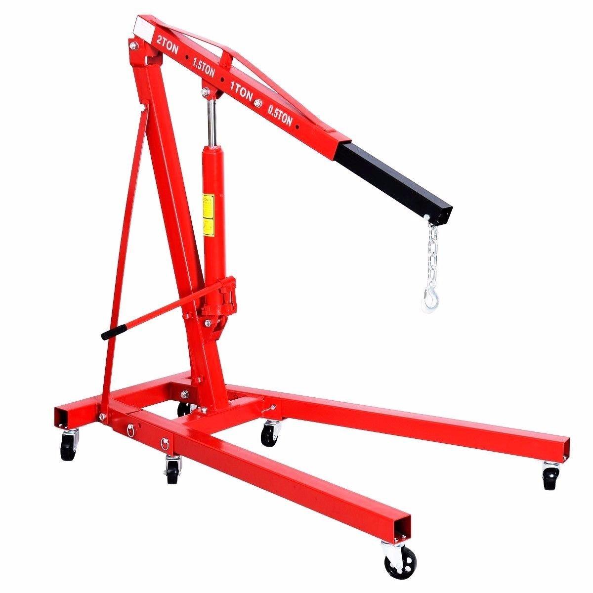 2 Ton Red Color 4000 Lb Engine Motor Hoist Cherry Picker Shop Crane Lift New