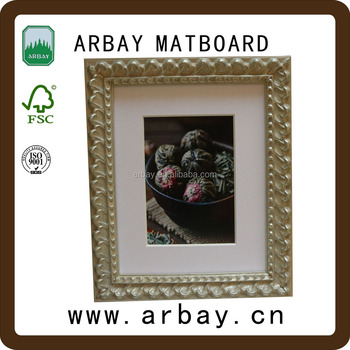 4fe291bea4c2 Wholesale white mats + golden frame art chart paper decoration photo paper