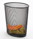 Honor High-Quality Metal Mesh Oval Waste Dust Trash Bin Basket Can-Large