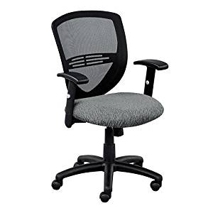 Network Mesh Back Fabric Seat Task Chair Blue Chip Fabric Seat/Black Mesh Back/Black Base