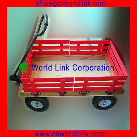 Herramienta de jard n de madera de juguete para ni os for Carros de madera para jardin
