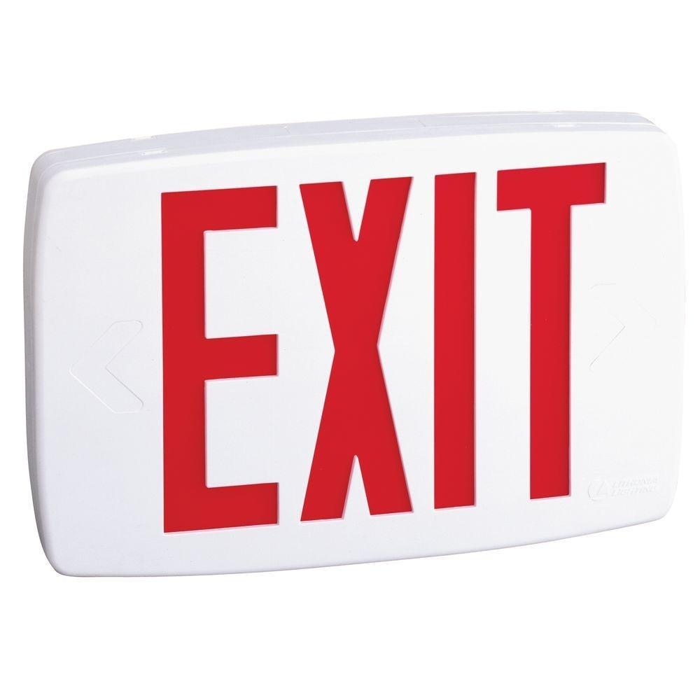 Lithonia Lighting LQM S 3 R 120/277 M6 1W LED Exit Sign, White