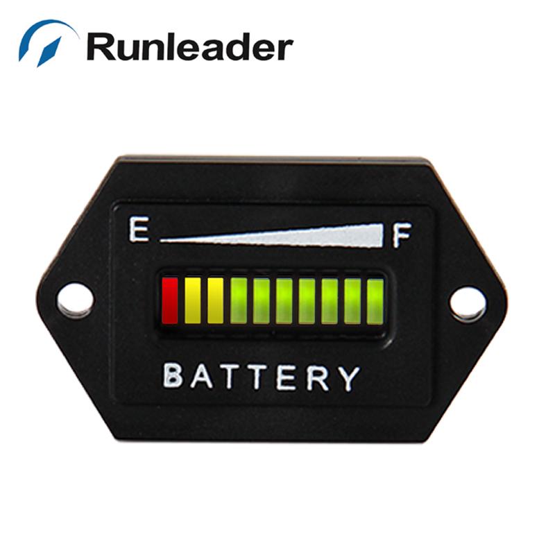 lead acid storage battery led battery discharge indicator battery meter 48v for golf carts. Black Bedroom Furniture Sets. Home Design Ideas
