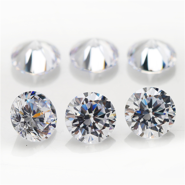 Cheap Price Synthetic Diamond Vacuum Packing 1.2mm Small Size Hight Technology Machine Cut White Cubic Zirconia Loose Stone