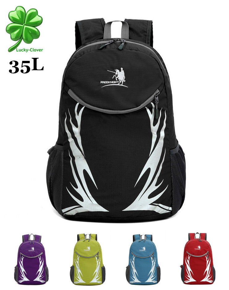 35L Large-capacity folding Ultra-light waterproof Nylon backpack outdoor ride travel men/women sport backpack camping brand bags
