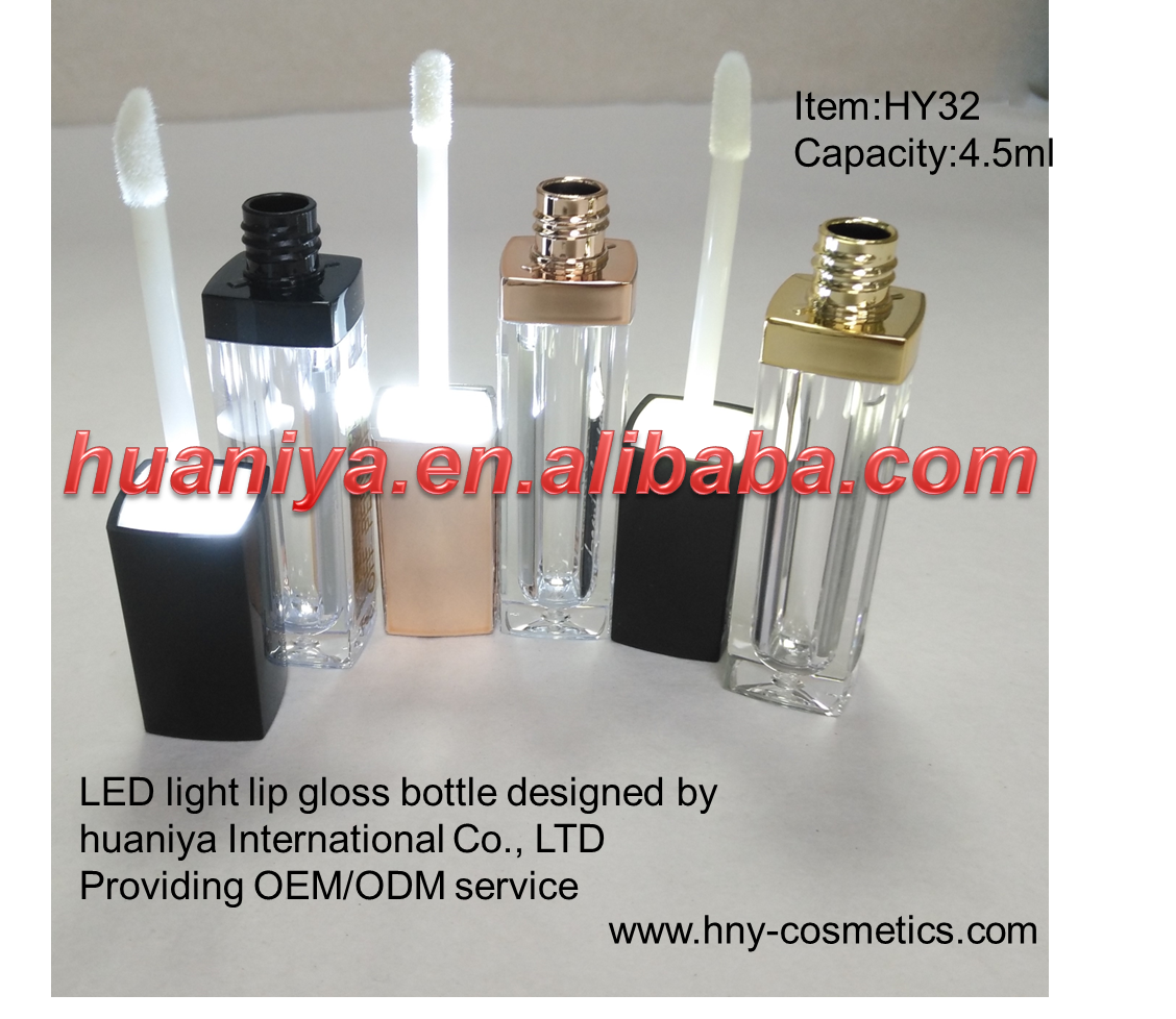 4.5ml Led light empty lip gloss bottle with mirror