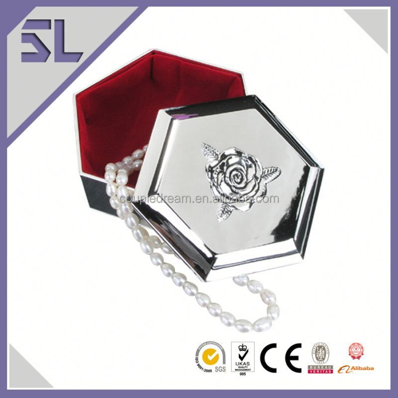 Factory Direct Supply Luxury Jewelry Box Hexagonal Shaped Jewelry Box Packaging