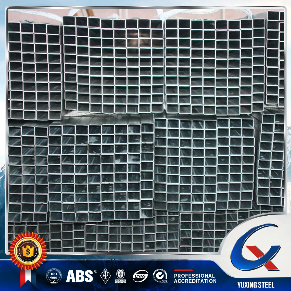 pre galvanized square electrical resistance welded steel tube