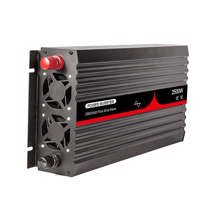 12VDC to 110VAC 60HZ 2500W Pure Sine Wave Air Conditioner Inverter