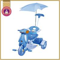 3 In 1 Steel Pusher Plastic Material Best Push Trike For Toddlers