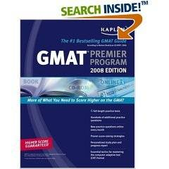GMAT EXAM REVIEW GMAT TEST Kaplan GMAT 2008 Premier Program (w/ CD-ROM) (Kaplan Gmat (Book & CD-Rom)) (Paperback)