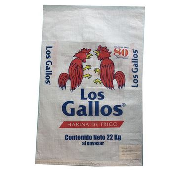 China 50kg pp woven laminated sack / sacos packing grain, rice, flour