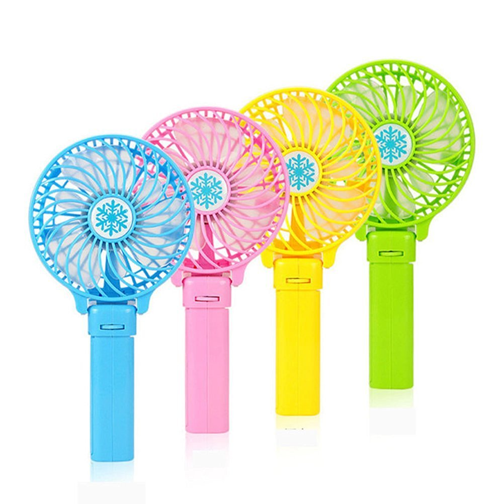 VORCOOL Usb Fan Mini Fan Portable 3 Gear Speed USB handheld Battery Rechargeable Multifunctional Fan Blue